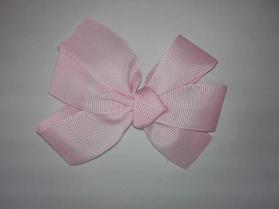 Ribbon Κλιπ Μαλλιών  Ροζ