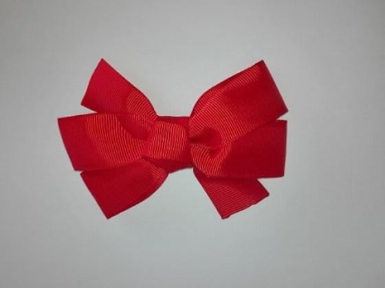 Ribbon Κλιπ Μαλλιών  Κόκκινο